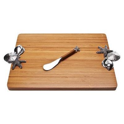 Thirstystone Seashell Bamboo Serving Board Set