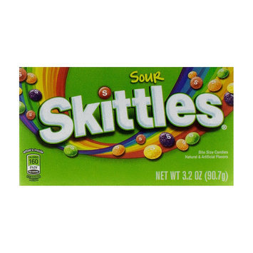 Skittles Sour Bite Size Candies Theater Box 3.2 oz 12 ct