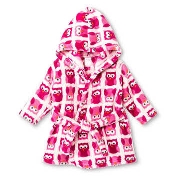 Luvable Friends Newborn Girls' Fleece Bathrobe - Pink