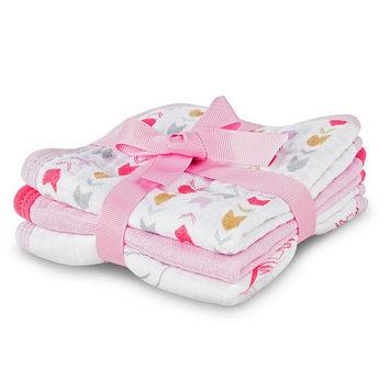 Hudson Baby Newborn Girls' 3 Pack Washcloth Set - Pink