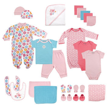 Luvable Friends Baby Dinos 24-Piece Layette Starter Set