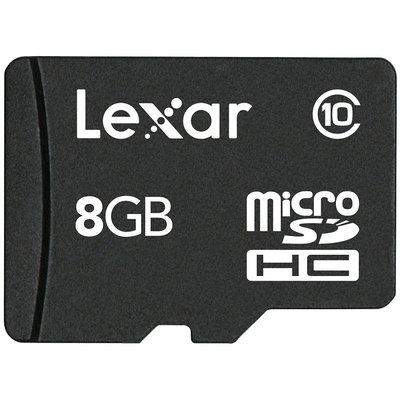 Lexar 8-GB Micro Sdhc - Black (SDM8GBABT)