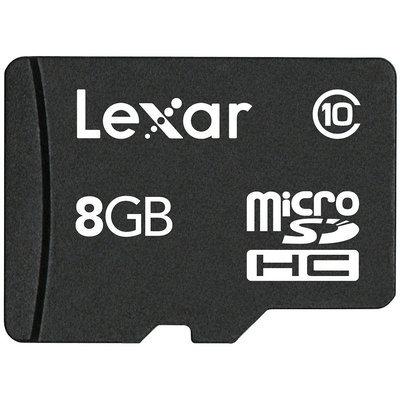 Lexar 8-GB Micro Sdhc with Adapter - Black (SDMI8GBABT)