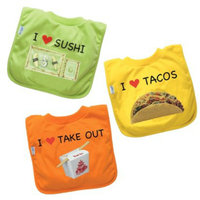 I Play Favorite Food Bibs 3-pk.
