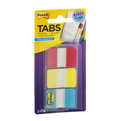 Post-It Tabs Durable with Easy Dispensers - 3 CT