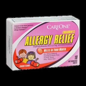 CareOne Children's Cherry Flavor Allergy Relief Antihistamine Tablets - 18 CT