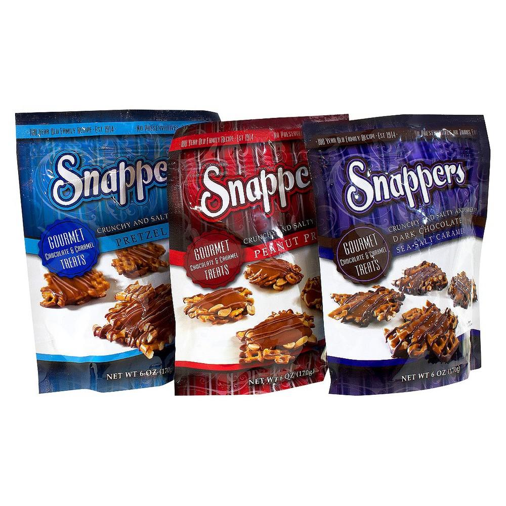 Snappers Assorted Flavors Gourmet Pretzels 6 oz 6 ct