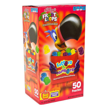 Kellogg's Froot Loops Froot Snacks Letters & Numbers Assorted Fruit Flavored Snacks 0.8 oz 50 ct