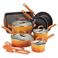 Rachael Ray Hard-Anodized Nonstick Aluminum 14-pc. Cookware Set (Orange)