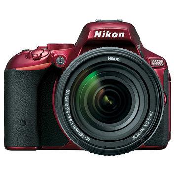 Nikon D5500 DX-format Digital SLR w/ 18-140mm VR Kit - Red
