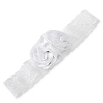 Tevolio Girls' Flower Headwrap - True White 6-14