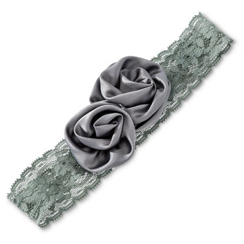 Tevolio Girls' Flower Headwrap - Cement 6-14