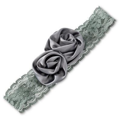 Tevolio Girls' Flower Headwrap - Cement 6-14