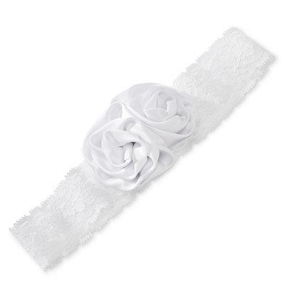 Tevolio Toddler Girls' Flower Headwrap - True White 2T-5T