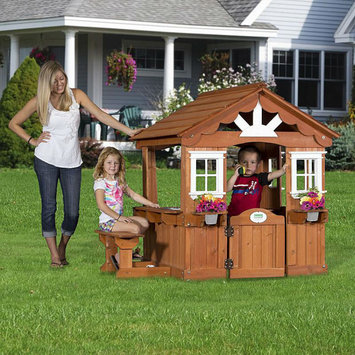 Leisure Time Products Backyard Discovery Playground Equipment. Scenic All Cedar Playhouse