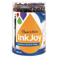 Paper-mate PAP1862363 - Paper Mate InkJoy 550 RT Ballpoint Retractable Pen; 1.0mm; 12 Black/12 Blue/6 Red/6 Purple