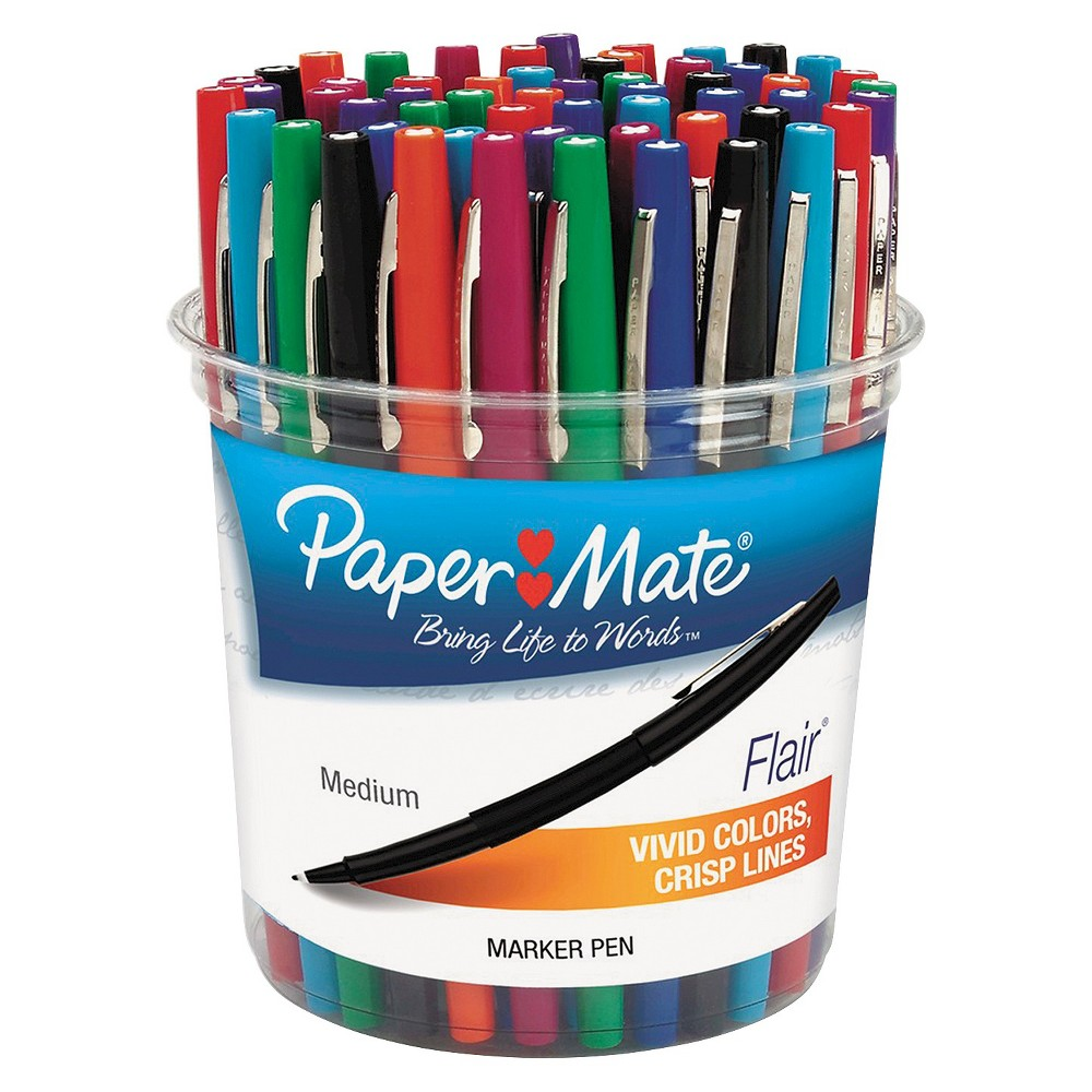 Paper-mate PAP4651 - Paper Mate Flair Felt Tip Marker Pen; Assorted Ink; Medium; 48 Pens/Set