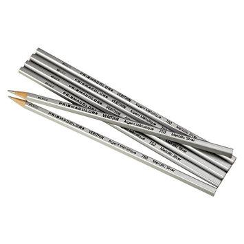 Sanford Prismacolor Verithin Colored Pencils, Metallic Silver, Dozen