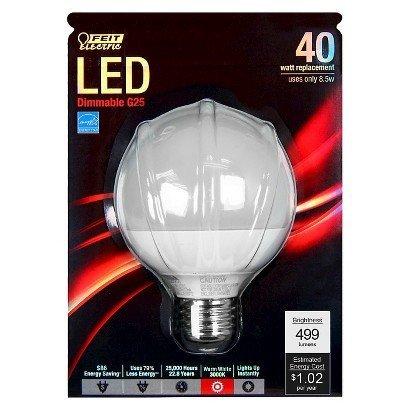 Feit Electric Co #261200 G25/DM/LEDG2 G25 Dimmabl Globe