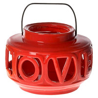 Drew Derose Single Candle Holder - Red