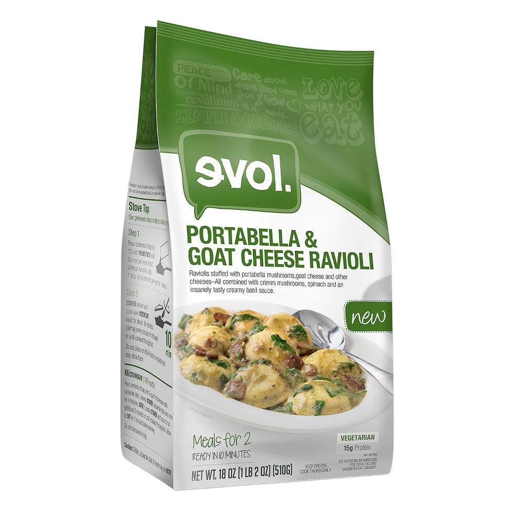 Evol Goat Cheese and Portabello Ravioli