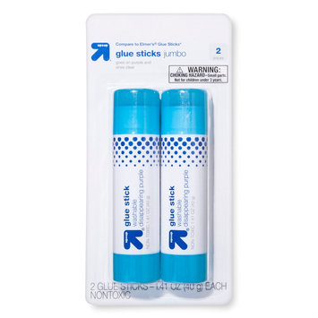 up & up Super Jumbo Glue Stick - 2ct