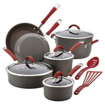 Meyer Corporation Us Rachael Ray Cucina Hard-anodized Nonstick 12-piece Cookware Set