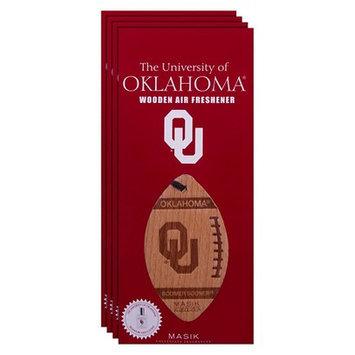 Ncaa Oklahoma Sooners 4pk Wooden Football Air Fresheners