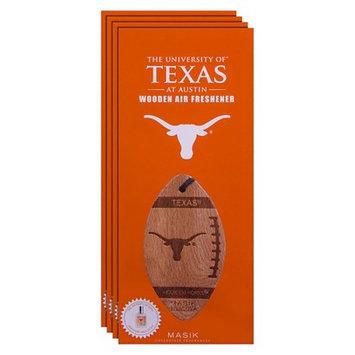 Ncaa Texas Longhorns 4pk Wooden Football Air Fresheners