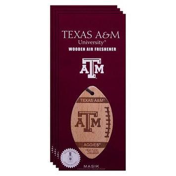 Ncaa Texas A & M Aggies 4pk Wooden Football Air Fresheners