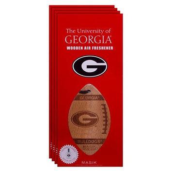 Ncaa Georgia Bulldogs 4pk Wooden Football Air Fresheners