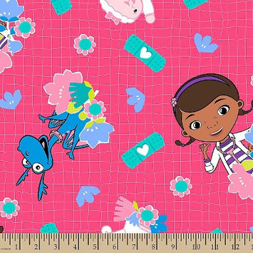 Disney Doc Mcstuffins Bandaid Fleece Fabric