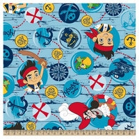 Jake And The Neverland Pirates Disney Jake Treasure Quest Bubbles Fleece Fabric