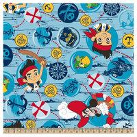 Jake And The Neverland Pirates Disney Jake Treasure Quest Bubbles Fleece Fabric