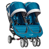 Baby Jogger Baby Stroller Jogger City Mini Double - Teal/Gray