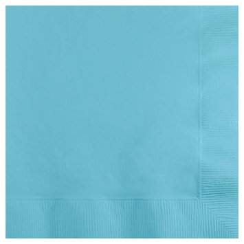 Creative Converting Paper Beverage Napkins - Pastel Blue (50 count)