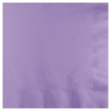 Creative Converting Paper Beverage Napkins - Luscious Lavender (50 count)