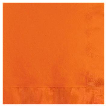 Creative Converting Paper Beverage Napkins - Sunkissed Orange (50 count)