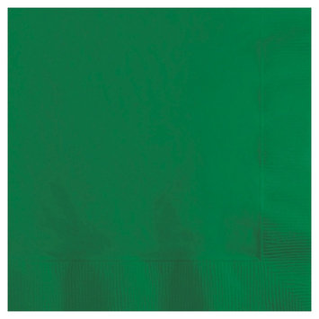 Creative Converting Paper Beverage Napkins - Emerald Green (50 count)