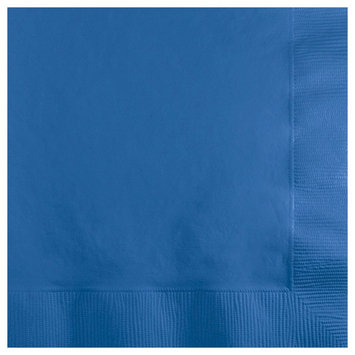 Creative Converting 3 Ply Beverage Napkins True Blue 500 Ct