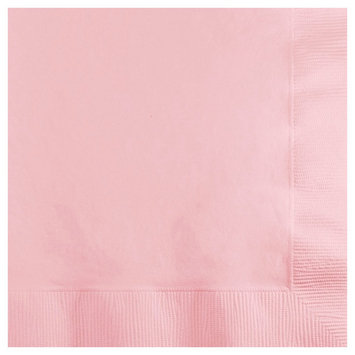 Creative Converting Paper Beverage Napkins - Classic Pink (50 count)