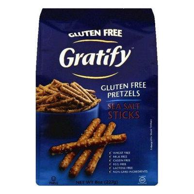 Gratify Pretzel Sticks Gluten Free Sea Salt 8 oz