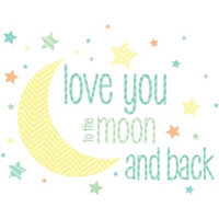 Brewster Wallcovering WallPops I Love You To The Moon Wall Wishes Decal