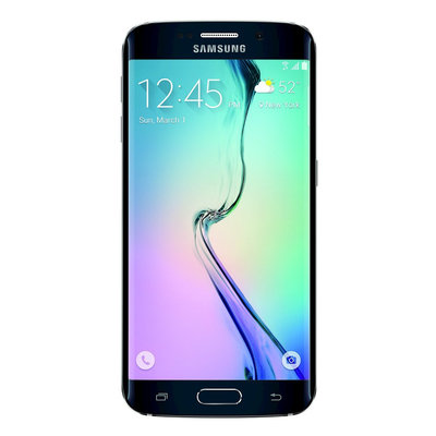 Samsung - Galaxy S6 Edge 4g With 32GB Memory Cell Phone - Black Sapphire (at & t)