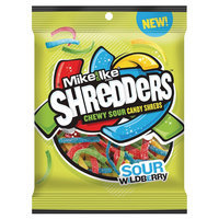 Just Born Mike & Ike Shredders Sour Wildberry Candy 6 oz.