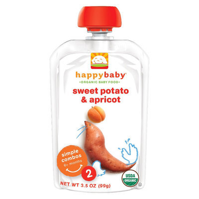 Happy Baby Stage 2 Sweet Potato & Apricot - 3.5oz (8 Pack)