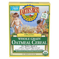 Earths Best Earth's Best Organic Whole Grain Oatmeal Cereal - 8oz (3 Pack)