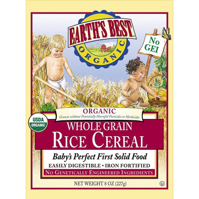 Earths Best Earth's Best Rice Cereal - 8oz (3 Pack)