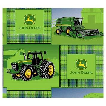 John Deere Plaid Patch Fleece Fabric