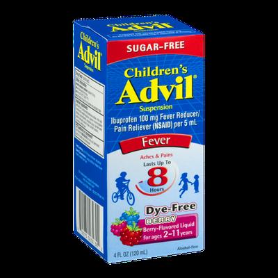 Advil Children's Suspension Fever Reducer/Pain Reliever Berry-Flavored Liquid